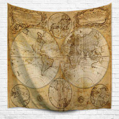 Multifaceted World Map 1746 3D  Home Wall Hanging Tapestry for Decoration