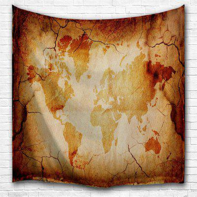 Retro Map 3D Printing Home Wall Hanging Tapestry for Decoration
