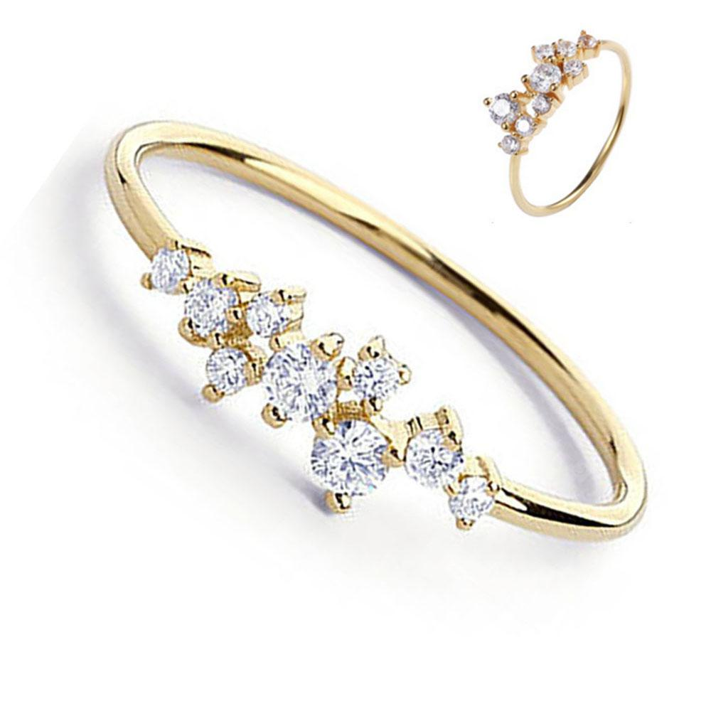 Fashionable Diamond Couple Ring