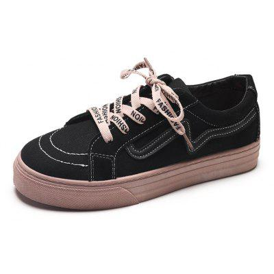 Glitter Lace Up Canvas Sneaker Shoes