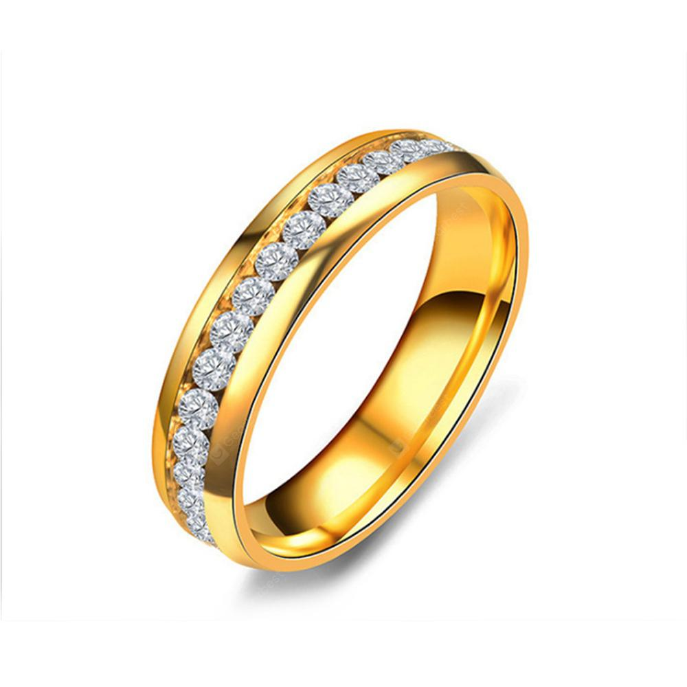 Women's Steel Couples Gold-Plated Rings 0116 Personalized Gifts Jewelry