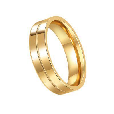 Anelli in acciaio placcato oro Lovers 01191 Personality Gifts Jewelry