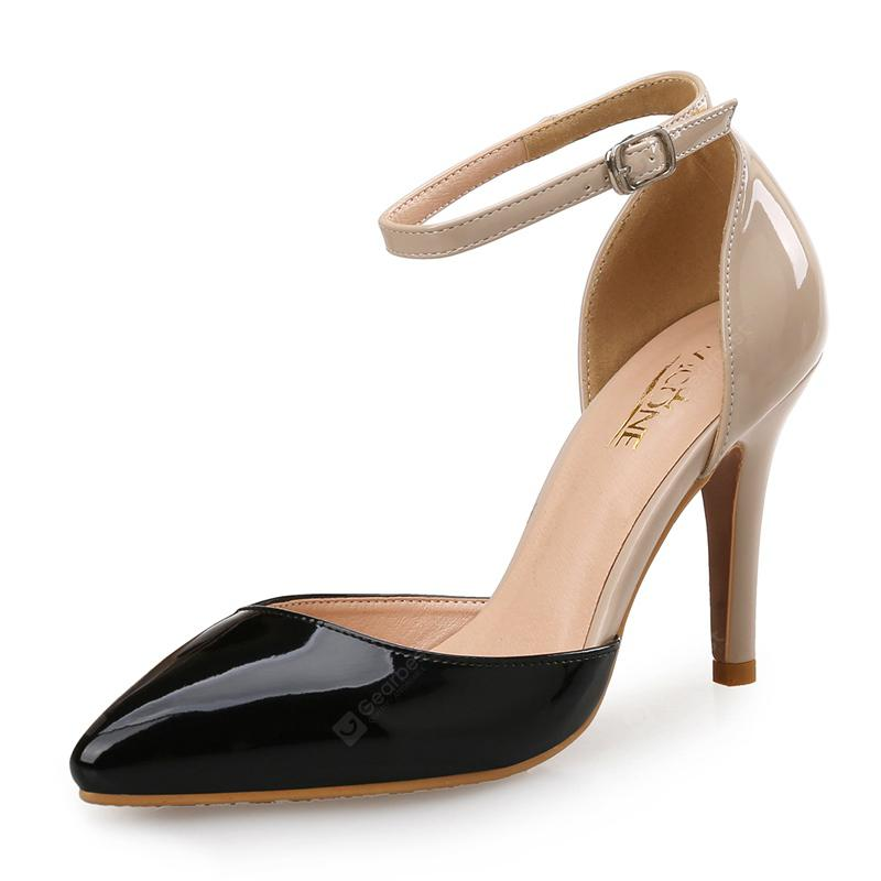 VICONE Women Spring Summer Dress Pointed Toe Mature High Heel