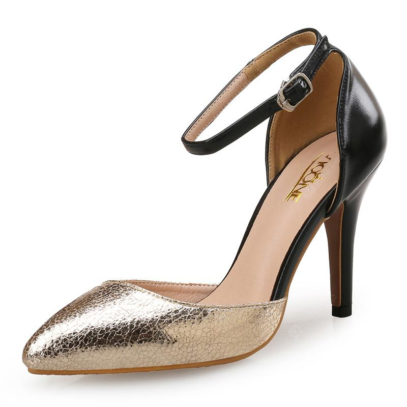 VICONE Women Spring Dress Pointed Toe Mature High Heel