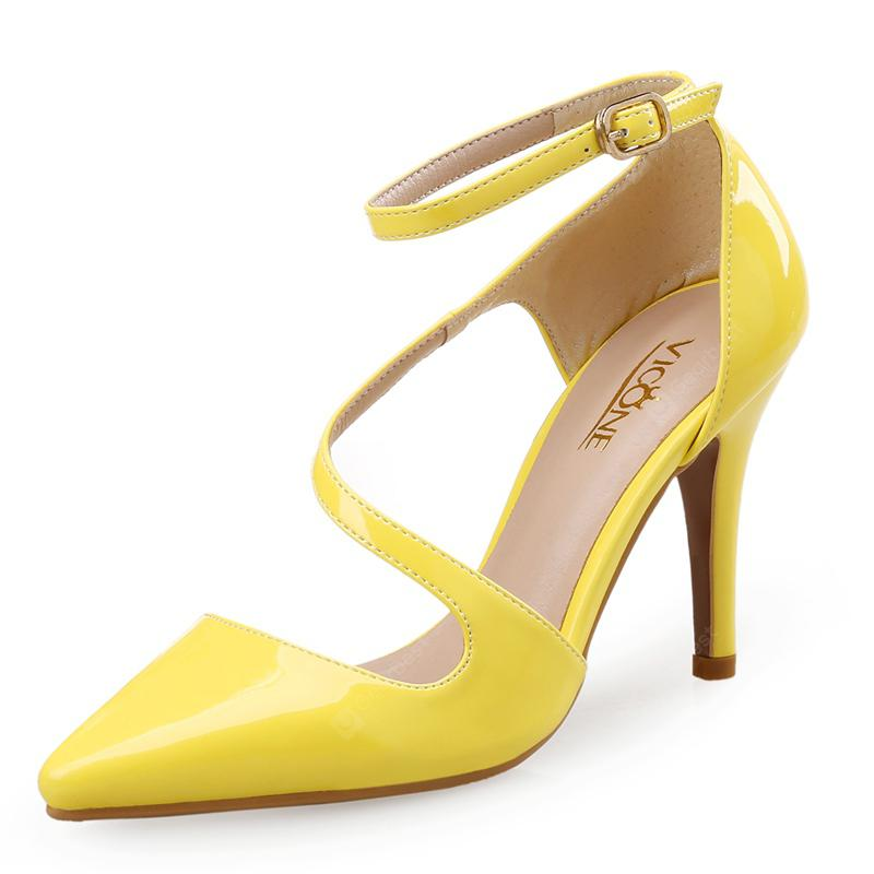 VICONE Women Summer Pointed Toe Party Wedding Office Lady Fashion High Heel