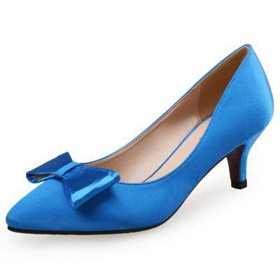 VICONE Women Spring Autumn Pointed Toe Concise Butterfly-knot Office Lady Heels