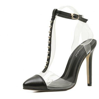 The New High Heel Sandals with Transparent Tape