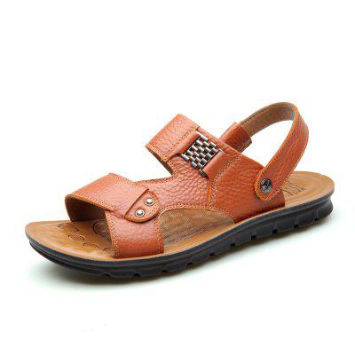 Male Summer Slippers Breatha Fashion CooL Causal Outdoor  Leather Men's Sandals