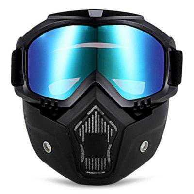 Motorcycle Goggles With Detachable Mask Safety