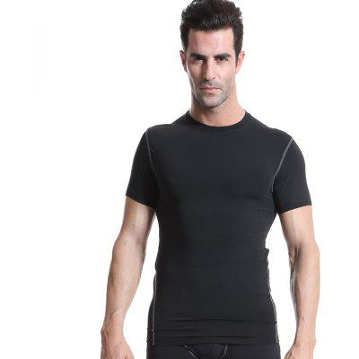 Quick Dry Compression Men Run Shirt Fitness Tight Soccer Jersey Gym Sportswear