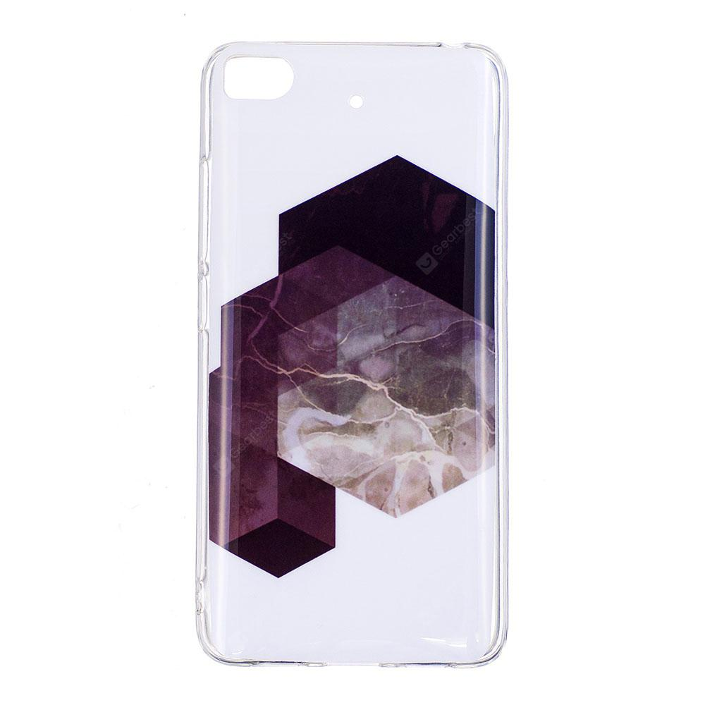TPU Soft Case para Xiaomi 5S Geometric Marble Style Back Cover