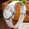 Harajuku Quartz Hollow Musical Note Style Leather Ladies Casual Watch - WHITE