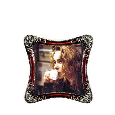 Bz-01 European Retro Artificial Diamond Metal Photo Frame