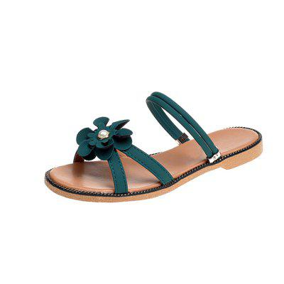 Two Wear Flowers All-Match Female Leisure Sandals