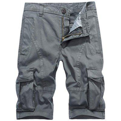 Men's Plus Size Summer Pockets Straight Tooling Shorts