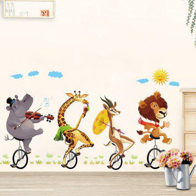 Bike Animal Buddy 3D Cartoon Stickers Creative Decoration