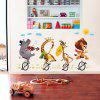 Bike Animal Buddy 3D Cartoon Stickers Creative Decoration - MULTI