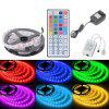 HML 5050 x300 RGB LED Lights Kit with 44key IR Remote Controller and US-plug - BLACK