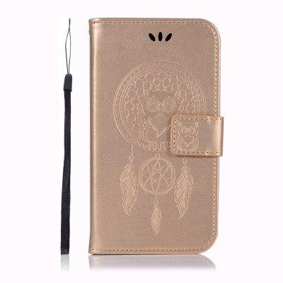 Uil Campanula Wallet Cover voor Samsung Galaxy J2 Pro 2018 Case PU Flip Leather