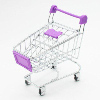 Mini Creative Toy Supermarket Shopping Cart Model Storage Basket