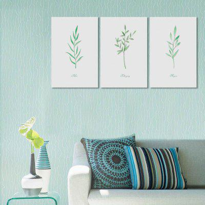 W171 Leaves Unframe Art Wall Canvas Prints for Home Decorations 3 PCS