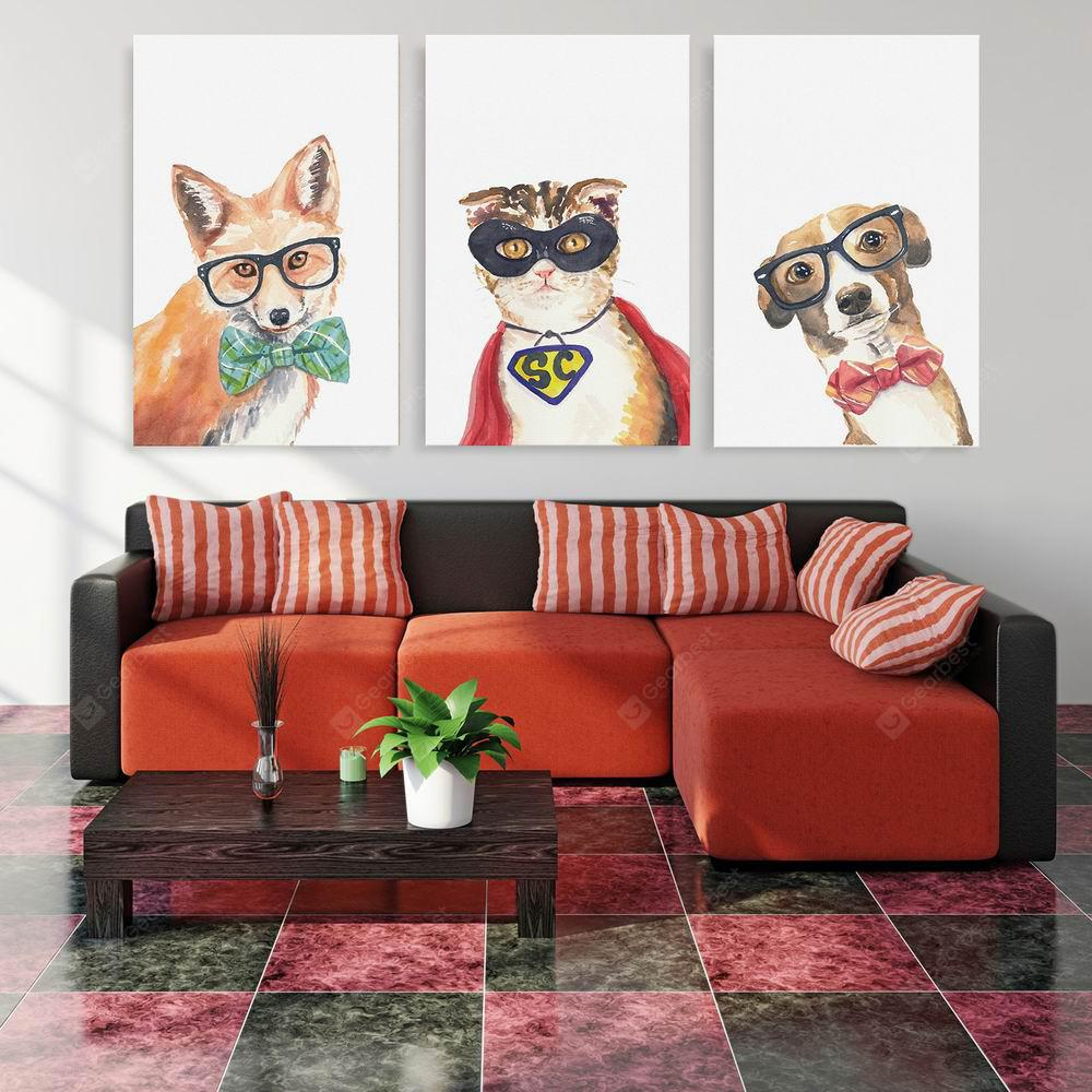 W174 Animals Unframed Wall Canvas Prints for Home Decorations 3PCS