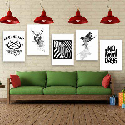 W175 Nordic Style Unframed Wall Canvas Prints for Home Decorations 5PCS