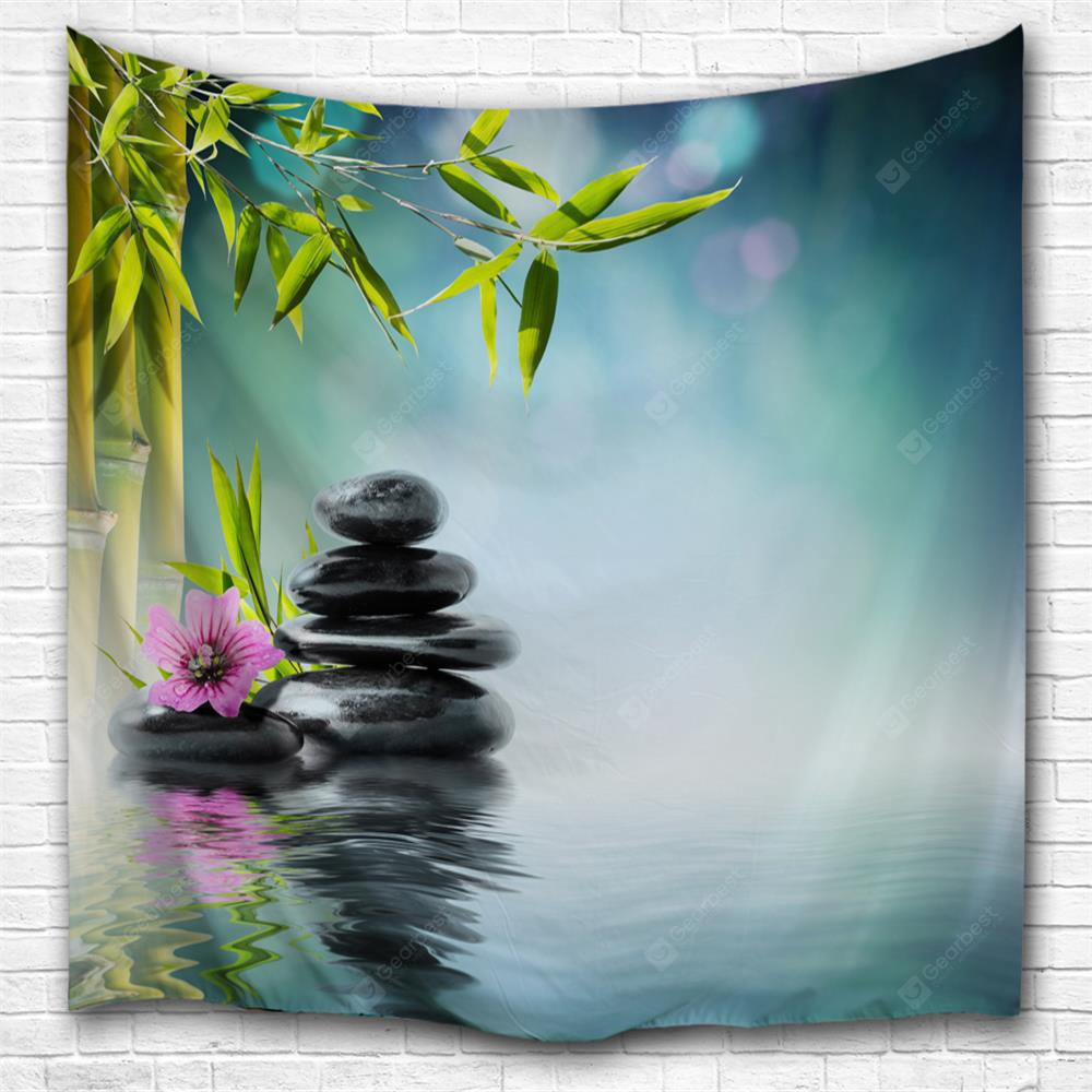 Zen Lake Surface 3D Printing Home Wall Hanging Tapestry for Decoration