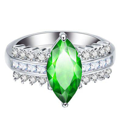 Leaves Artificial Diamond Zircon Ring