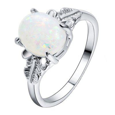Feather Big Gem Couple Ring