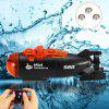 Mini Micro Radio Remote Control RC Submarine Ship Boat with LED Light Toy Gift - MULTI-A