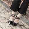 Snakeskin High Heel Shoes Hollowed Out Sexy Women's Shoes - BLACK