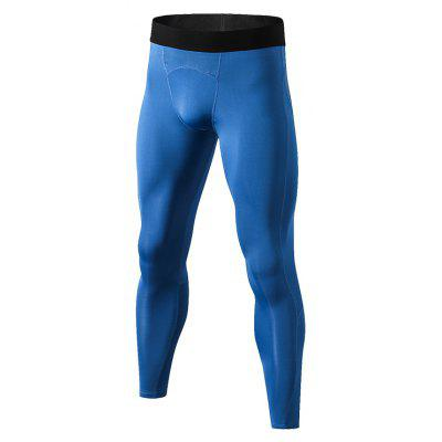 Fitness Men Sport Tights Running Pants Compression Bodybuilding Trousers