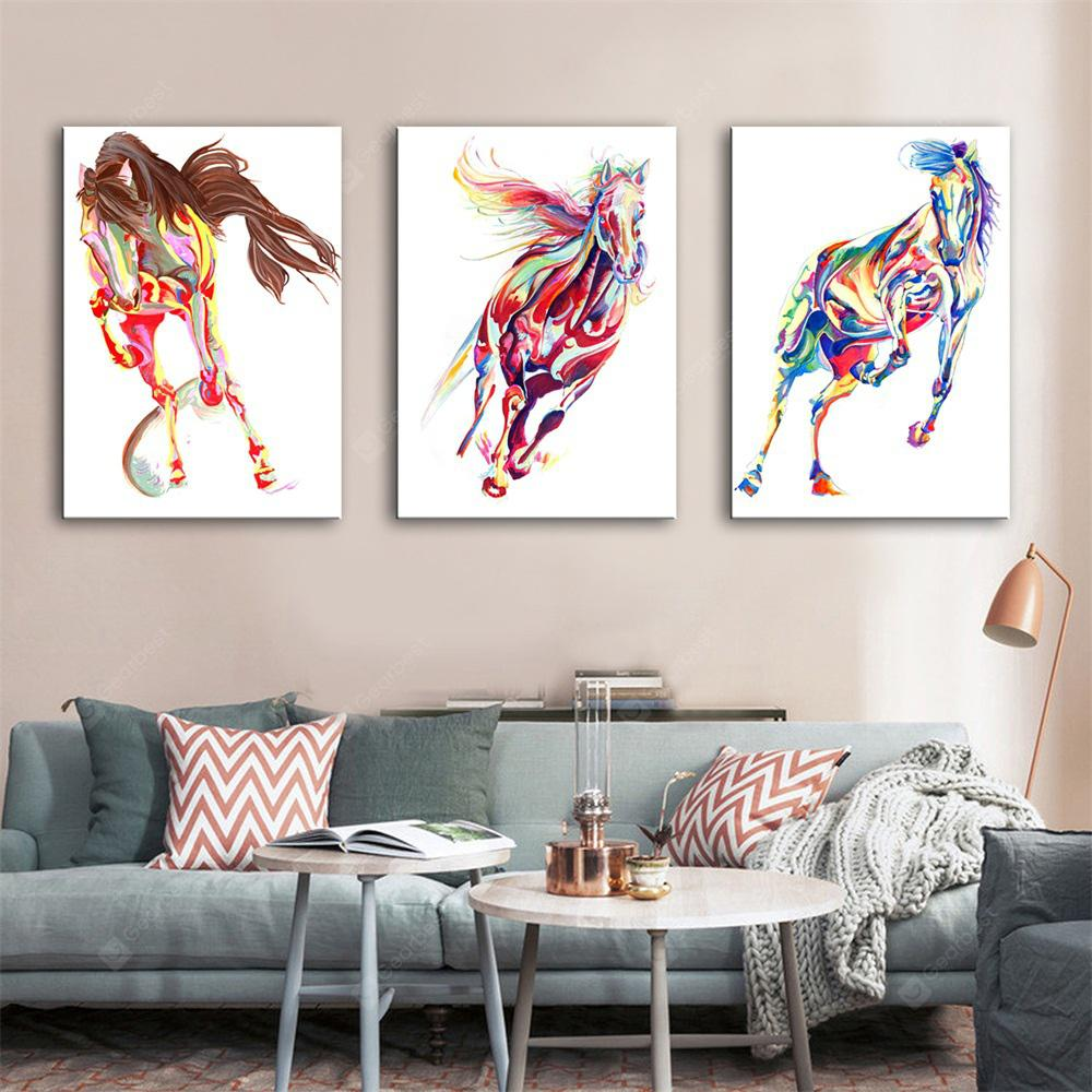 Special Design Frameless Paintings Horse Print 3PCS