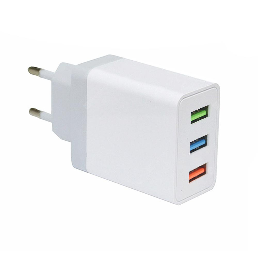 Minismile 5V3A Fast Charge 3 USB Port Home USB Power Travel Charger Wall Adapter