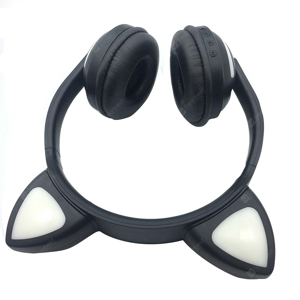 Glowing Wireless Stereo Subwoofer Cat Ear Bluetooth Headset