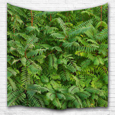 Green Leaf 3D Printing Home Wall Hanging Tapestry for Decoration
