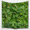 Green Leaf 3D Printing Home Wall Hanging Tapestry for Decoration - MULTI-A