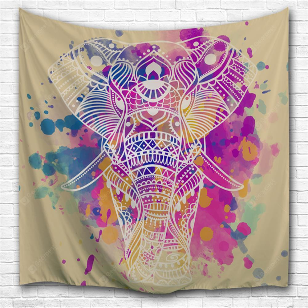 Dream White Elephant 3D Printing Home Wall Hanging Tapestry for Decoration