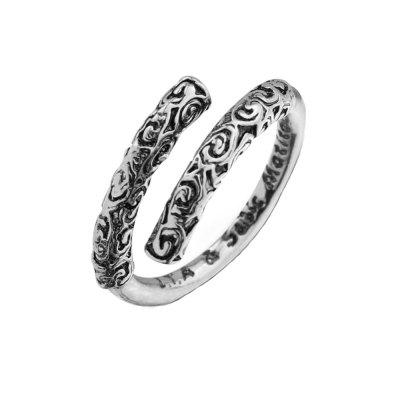 Carved Opening Couple Ring