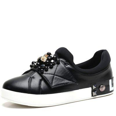 Pearl Metal Buckle One Foot on A Casual Shoes
