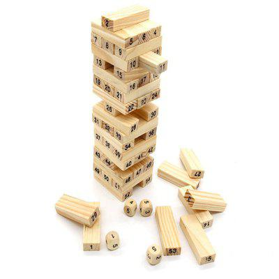 Kid 54 Blocks 4 Dice Digital Wooden Building Block Set Building