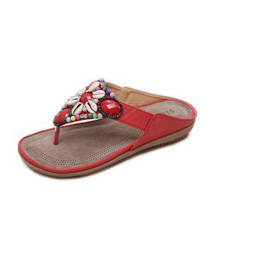 National Wind String Pinch Toe Sandals