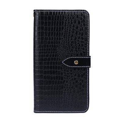 Crocodile Grain PU Leather Wallet Case for Huawei P20 Lite