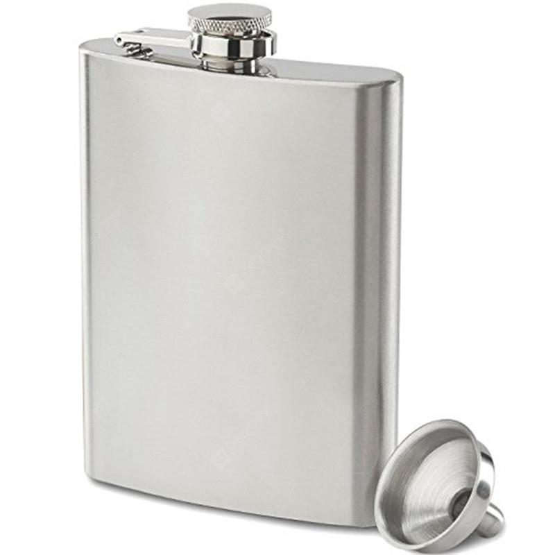 Stainless Steel 8-OZ Hip Flask Funnel Set