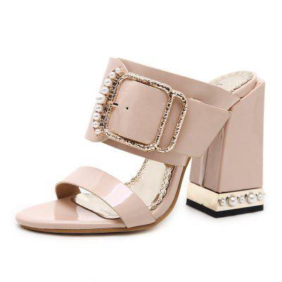 Rough Heels  High Heels  Casual Sandals  Women's Slippers