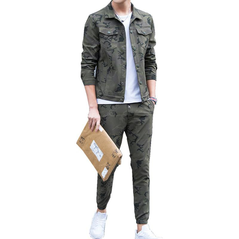 Men's Outdoor Sports Camouflage Suit for Casual Wear