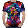 2018 Summer New Mesh Fabric 3D Printed Short-Sleeve T-shirt - MULTI-B