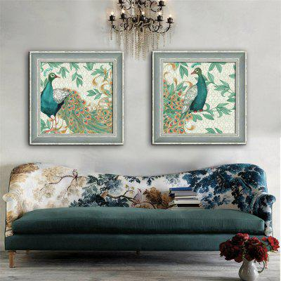 Special Design Frame Paintings Peacock Print 2PCS