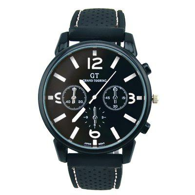 GT Men Big Dial Silica Gel Fashion Watch